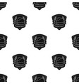 basketball emblembasketball single icon in black vector image