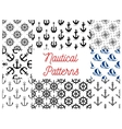 Nautical and marine concept patterns vector image