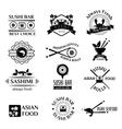 Sushi logo icons set vector image