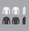 3d realistic white black long sleeve vector image vector image
