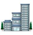 A tall condo building vector image vector image