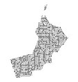 abstract schematic map of oman from the black vector image vector image