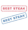 best steak textile stamps vector image vector image