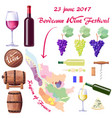 bordeaux wine festival on 23 june 2017 poster vector image vector image