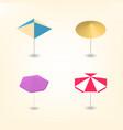 bright beach umbrella 3d vector image