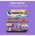 Cargo Transport and Packaging vector image vector image