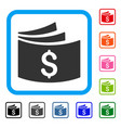 checkbook framed icon vector image vector image