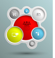 circle group with icons for business concepts vector image