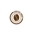 coffee logo for cafe resto and product label vector image vector image