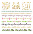 collection of colorful hand drawn decorative vector image vector image