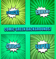 comic green backgrounds collection vector image vector image
