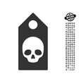 death coupon icon with work bonus vector image vector image