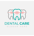dental logo design template creative sign vector image vector image