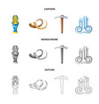 design of story and items logo set of vector image vector image