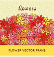 doodle flowers frame vector image vector image
