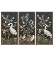 folding screen in chinoiserie style with storks vector image vector image