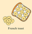 french toast in cartoon style vector image