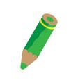 green pencil vector image vector image
