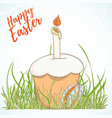 happy easter hand drawn retro card vector image vector image