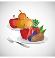 Healthy food design organic food natural product vector image vector image