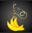hookah banana vector image vector image