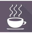Hot drink web icon vector image vector image