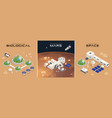 isometric mars colonization biological vector image vector image