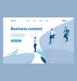 isometric participate in business competitions vector image