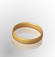 Jewelry golden ring with reflection vector image