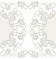 Lace Card with crochet floral ornament vector image vector image
