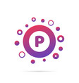letter p with group of dots logo design vector image vector image