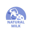 Logo with a smiling cow vector image vector image