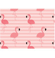 minimal pink flamingo pattern seamless background vector image