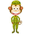 monkey army vector image