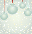 NewYear snowflakes background with glass balls vector image