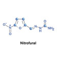 nitrofural bactericidal compound vector image vector image