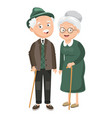 of grandparents vector image