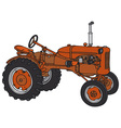 Old tractor vector image vector image