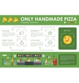 Only Handmade Pizza infographics Flat concept web vector image vector image