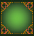 ornamental blank border vector image