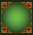 ornamental blank border vector image vector image