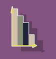 paper sticker on theme arabic business economic vector image vector image