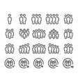 people line icon set vector image vector image