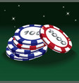 poker red and blue chips vector image