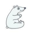 polar bear baby vector image vector image
