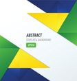 polygons design template yellow blue green vector image vector image