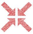 pressure arrows fabric textured icon vector image vector image