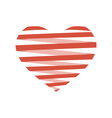 Red flat Spiral heart like origami isolated on vector image vector image