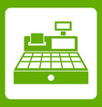 sale cash register icon green vector image vector image