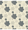 Seamless pattern with grey leafabstract leafleaf vector image